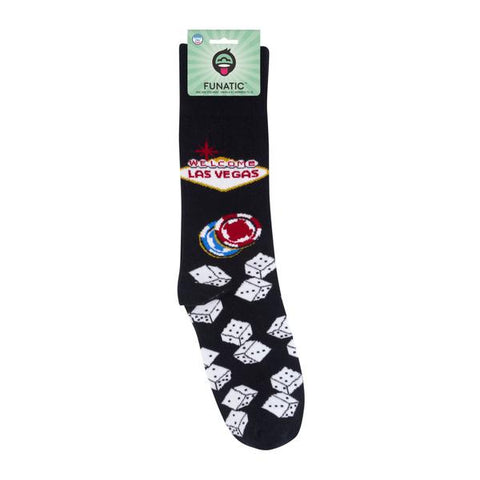 Funatic- Unisex Las Vegas - Novelty Socks, Mens, Womens, Kids
