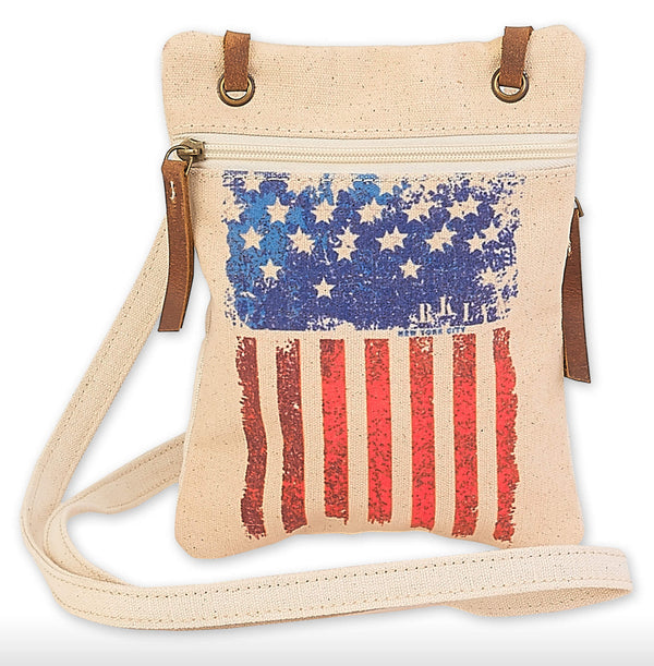 Vintage Flag Crossbody Purse - Jilly's Socks 'n Such