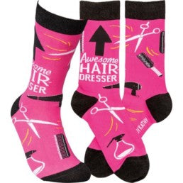 """Awesome Hairdresser"" Socks - One Size - Novelty Socks, Mens, Womens, Kids"