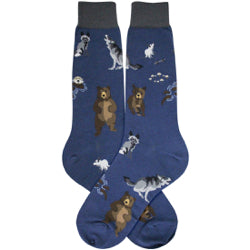 Men's Bear, Raccoon, & Otter Socks - Jilly's Socks 'n Such