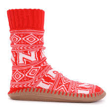 Women's Muk Luk Slipper Sock - Nebraska Huskers