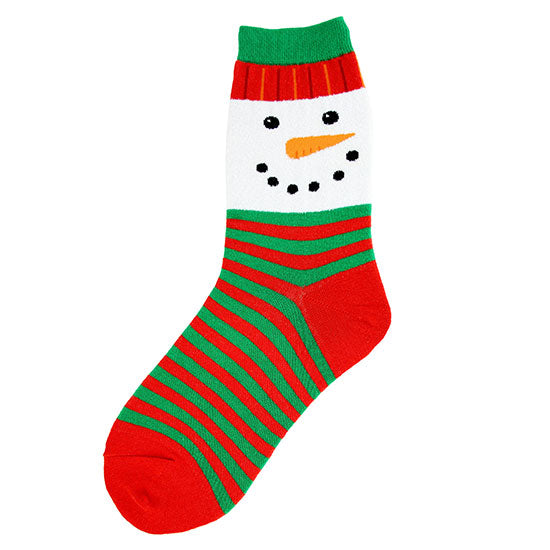 Women's Snowman Face Socks - Novelty Socks, Mens, Womens, Kids