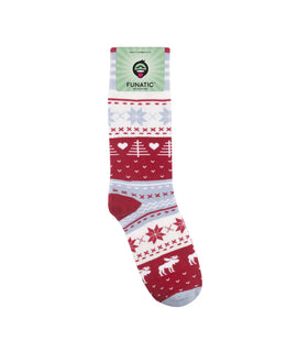 Christmas Moose Socks - One Size.