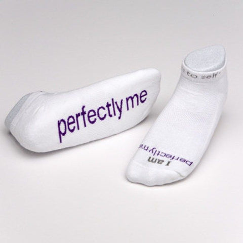 "Notes To Self Socks ""I am Perfectly Me"" - Multiple Sizes - Novelty Socks, Mens, Womens, Kids"