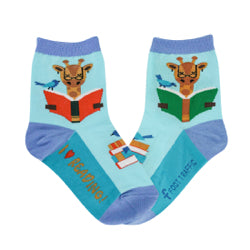 Kid's Reading Giraffe Socks - Novelty Socks, Mens, Womens, Kids