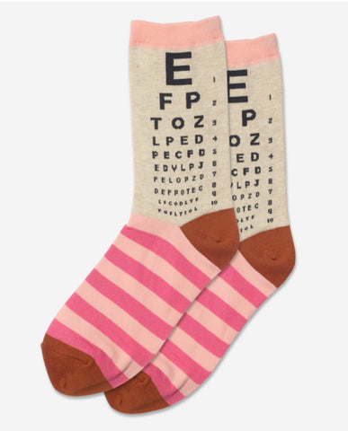 Women's Eye Chart Socks - Novelty Socks, Mens, Womens, Kids