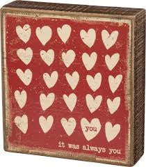 """It Was Always You"" Box Sign - Novelty Socks, Mens, Womens, Kids"