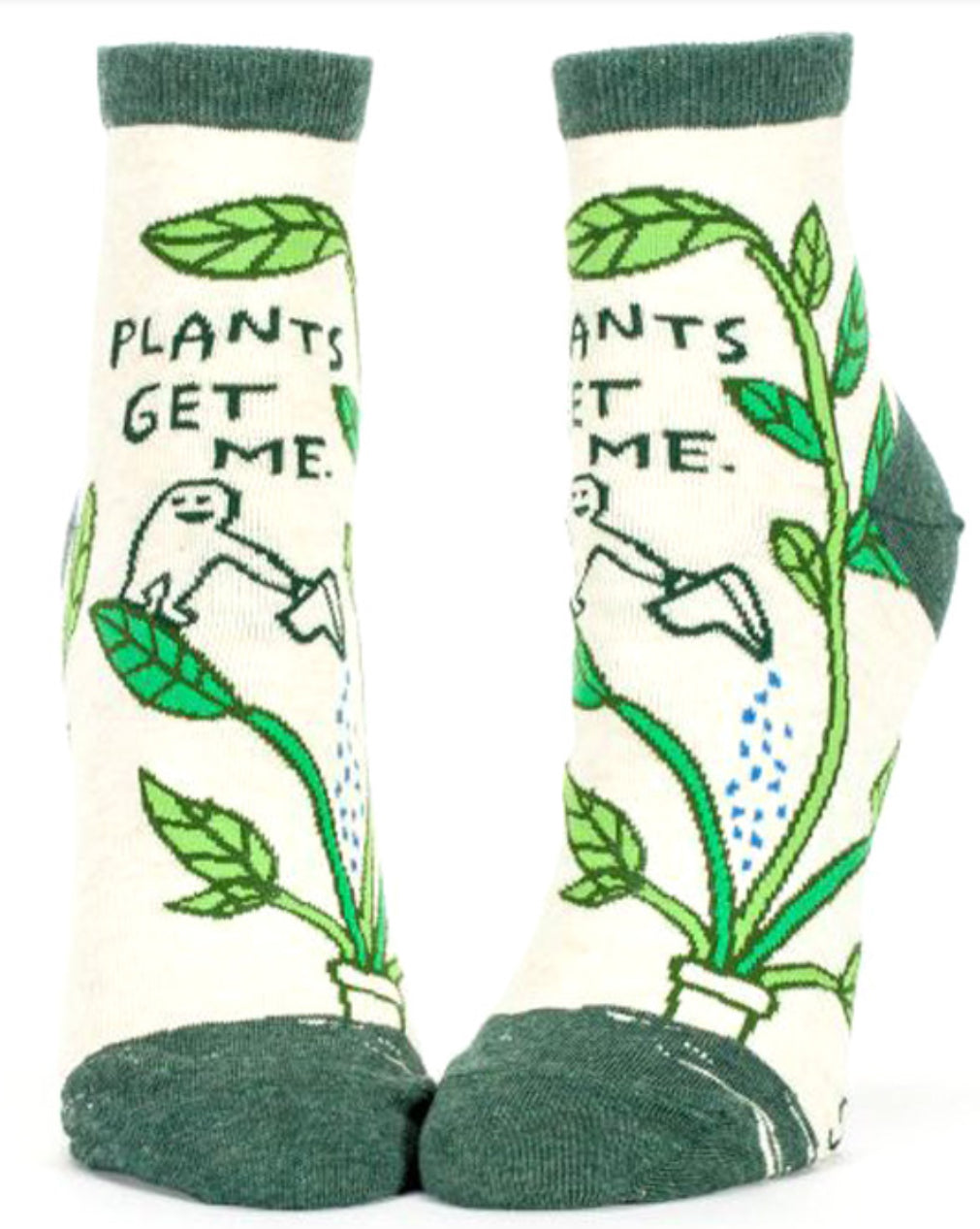 "Women's Ankle ""Plants Get Me"" Socks - Novelty Socks, Mens, Womens, Kids"