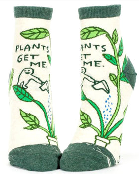 "Women's Ankle ""Plants Get Me"" Socks"