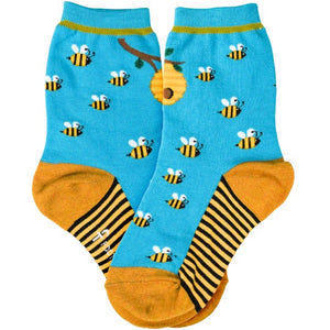 Kid's Bee Honey Socks - Novelty Socks, Mens, Womens, Kids
