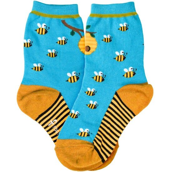Kid's Bee Honey Socks - Jilly's Socks 'n Such