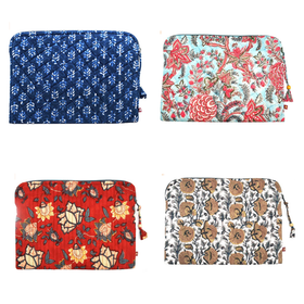 Anju Laptop Sleeve - Quilted 100% Cotton