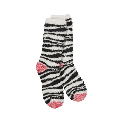 Women's World's Softest Socks - Zebra - Novelty Socks, Mens, Womens, Kids