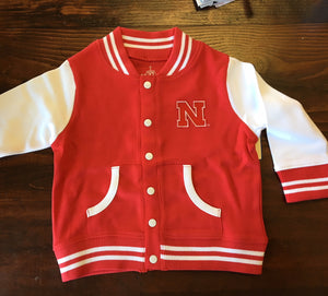 Kids- Red Nebraska Varsity Jacket - Novelty Socks, Mens, Womens, Kids