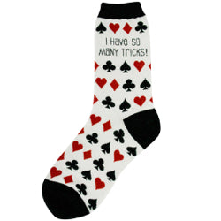"Women's ""I have so many tricks"" card Socks - Jilly's Socks 'n Such"
