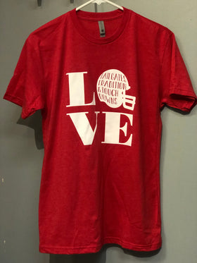 Unisex Love Football T-Shirt