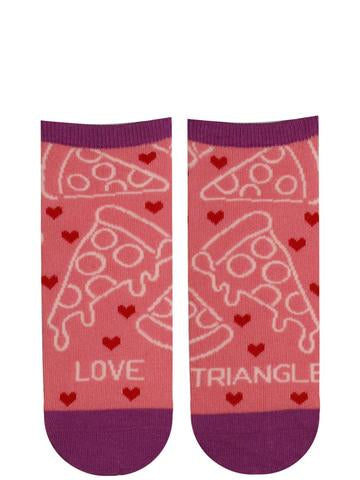 "Women's Ankle ""Triangle Love"" Pizza Socks - Jilly's Socks 'n Such"