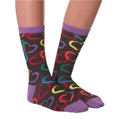 Women's Rainbow Hearts Socks - Novelty Socks, Mens, Womens, Kids
