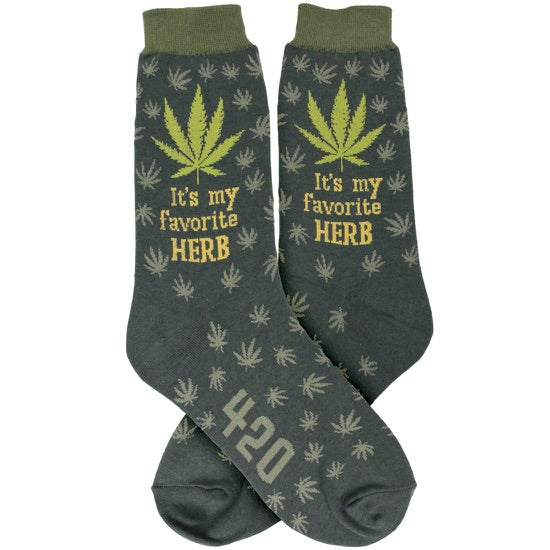 Men's Weed Favorite Herb Socks - Novelty Socks, Mens, Womens, Kids