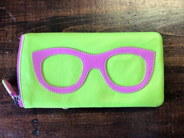 Genuine Leather Glasses Case by ILI - Novelty Socks, Mens, Womens, Kids