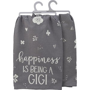 """Happiness is being a Gigi"" Towel - Jilly's Socks 'n Such"