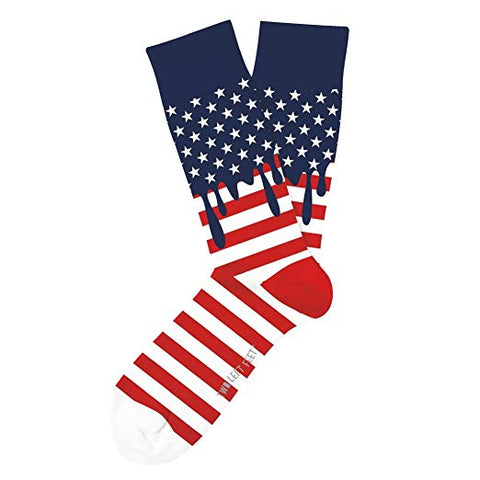 Unisex Two Left Feet-Dripping American Flag