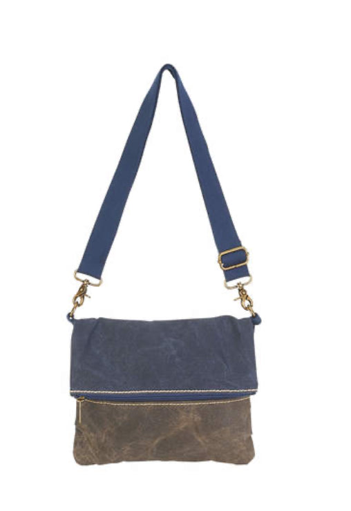 Purses Cargoit Canvas Foldover Crossbody - Jilly's Socks 'n Such