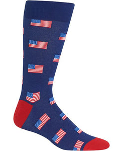 Men's Small American Flag Socks - Novelty Socks, Mens, Womens, Kids