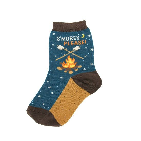 Kid's S'Mores Socks Campfire - Various Sizes - Jilly's Socks 'n Such
