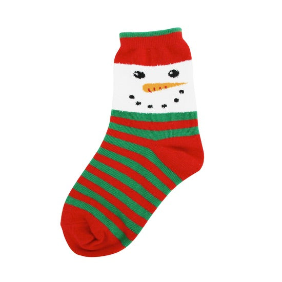 Kids Snowman Face Socks - Novelty Socks, Mens, Womens, Kids