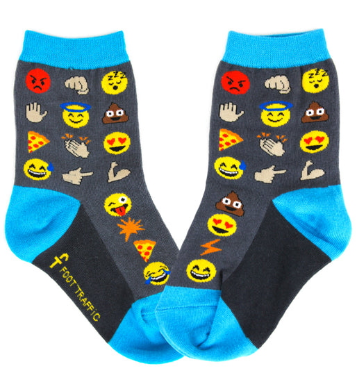 Kids-Emoji Socks - Novelty Socks, Mens, Womens, Kids