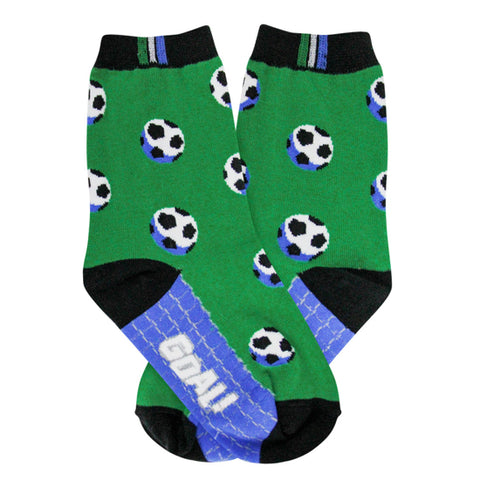 Kids Soccer Ball and Field Socks - Novelty Socks, Mens, Womens, Kids