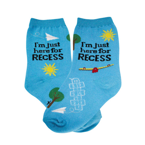 Kids-Just here for Recess Socks