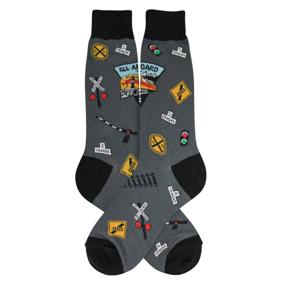 Men's-Railroad Train Socks - Jilly's Socks 'n Such