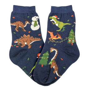 Kid's Christmas Dinosaur Socks -Various Sizes