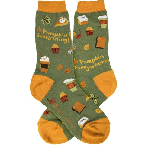 Women's Pumpkin Everything Socks - Novelty Socks, Mens, Womens, Kids