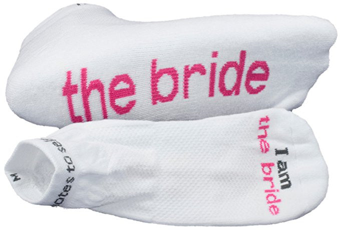 "Notes to Self Socks ""I Am The Bride"" White - Multiple Sizes - Novelty Socks, Mens, Womens, Kids"