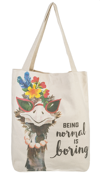 """Being Normal Is Boring"" Tote Bag - Jilly's Socks 'n Such"