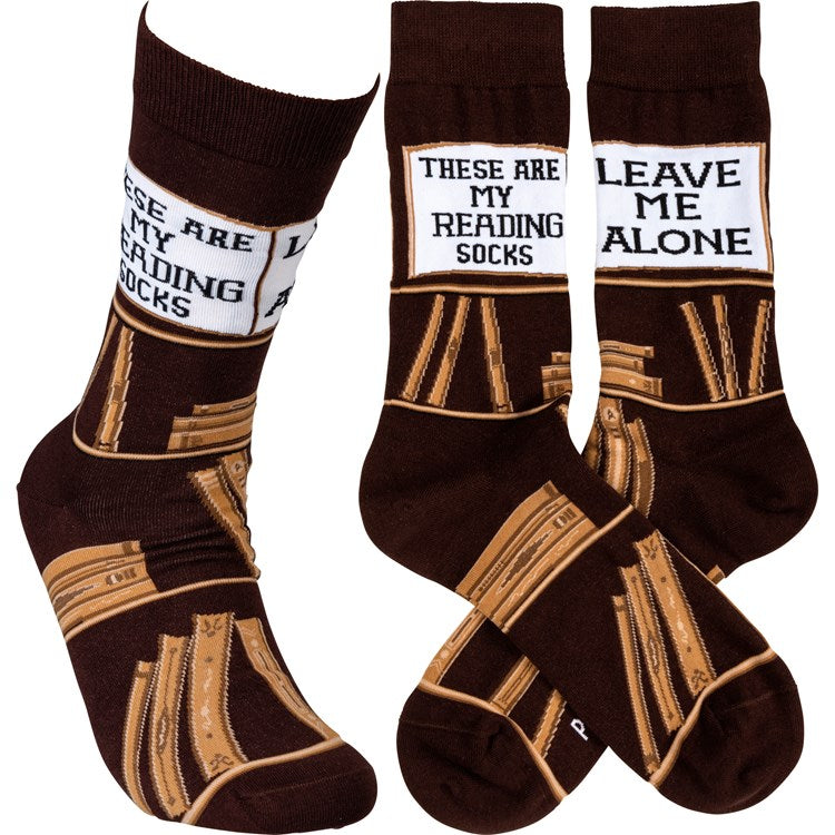 """Reading Socks"" Socks - One Size - Novelty Socks, Mens, Womens, Kids"