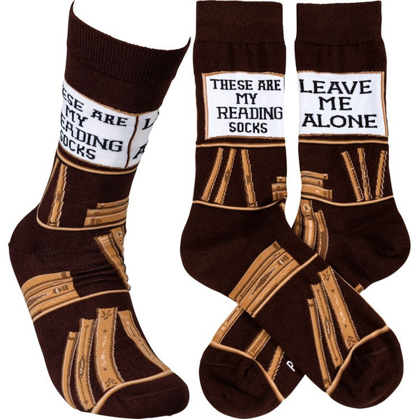 """Reading Socks"" Socks - One Size - Jilly's Socks 'n Such"