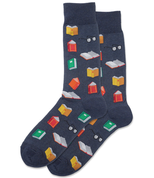 Men's Reading Book Socks - Jilly's Socks 'n Such