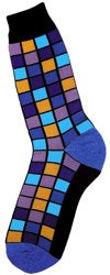 Men's Mosaic Purple Socks - Novelty Socks, Mens, Womens, Kids