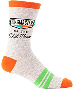 "Mens ""Ringmaster of the Shit Show"" Socks - Novelty Socks, Mens, Womens, Kids"