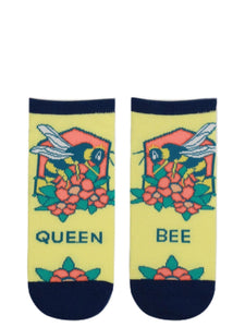 Women's Ankle Queen Bee Socks - Novelty Socks, Mens, Womens, Kids