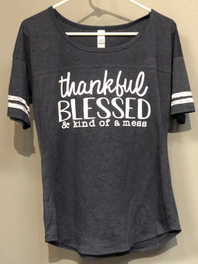 Women's Thankful Blessed T-Shirt