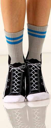 Women's Slipper Socks - Lace Sneakers - Novelty Socks, Mens, Womens, Kids