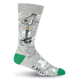 Men's Bunsen Burner Chemistry Science Socks