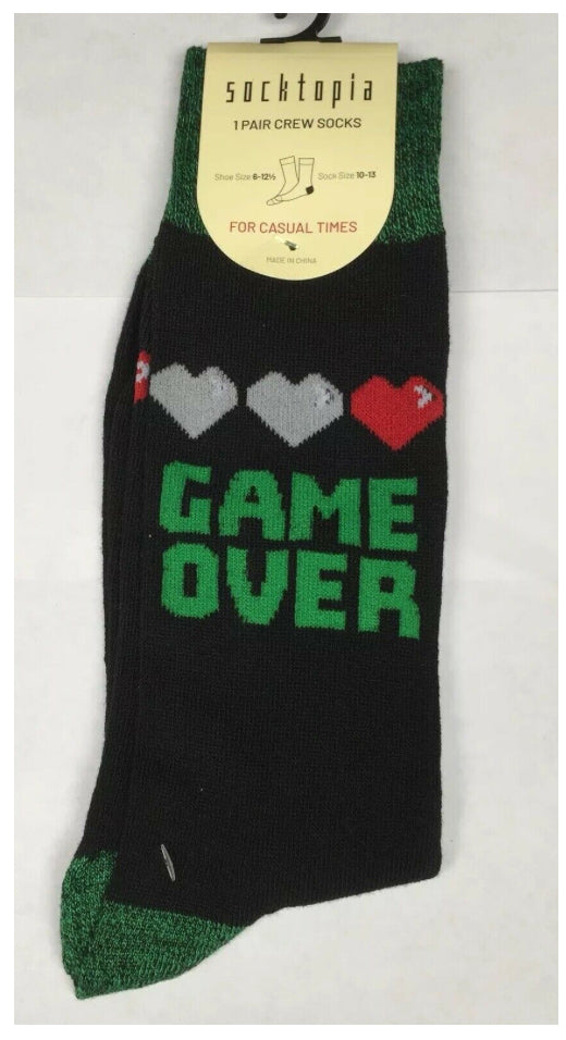 "Men's ""Game Over"" Socks - Novelty Socks, Mens, Womens, Kids"