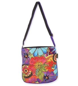 Laurel Burch Flower Crossbody Purse - Novelty Socks, Mens, Womens, Kids