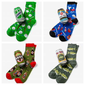 Men's Beer Socks In A Can